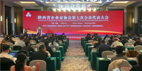 陕西省企业家协会 第七次会员代表大会暨七届一次理事会 在渭南召开