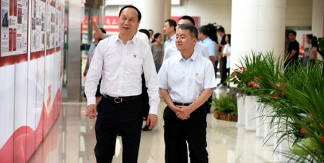 陕药集团庆祝建党100周年企业发展成果展开幕