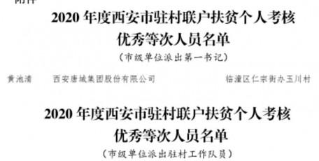 喜报!西旅集团派驻玉川村帮扶干部 黄池清、李辉获市级考核优秀