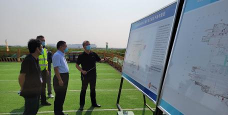 苏园林深入机场三期扩建工程现场督导安全防护工作