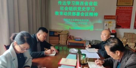 陕西省企业家协会传达学习省级社会组织党史学习教育动员部署会会议精神