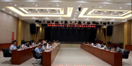 """陕药集团举办2021年度""""安全月""""活动暨安全生产工作会议"""