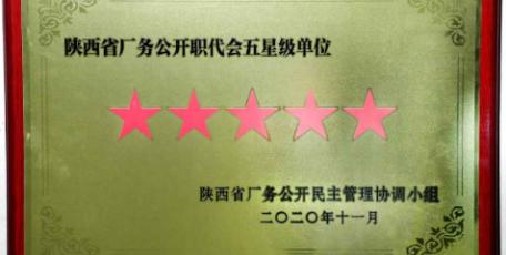"""陕煤集团五家单位荣获陕西省""""五星级""""厂务公开职代会单位称号"""