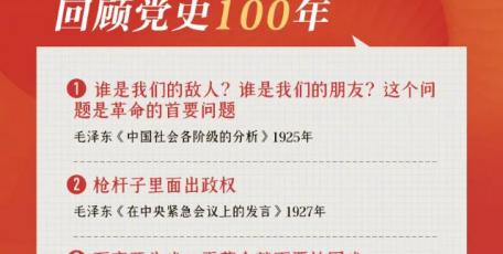 100句名言回顾党史100年